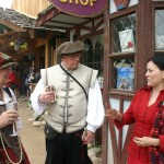Visiting with RenFest attendees.